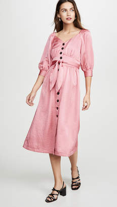 Moon River Raglan Puff Sleeve Dress