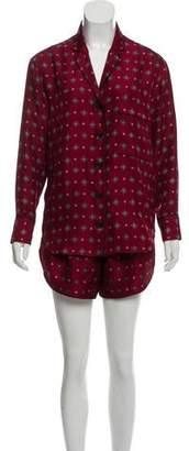 Rag & Bone Printed Silk Pajama Set