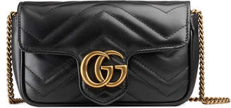 GG Marmont matelassé leather super mini bag $890 thestylecure.com