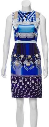 Mary Katrantzou Silk Trompe L'oeil Dress