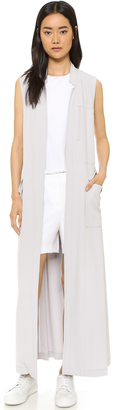DKNY Pure DKNY Long Trench Vest $495 thestylecure.com