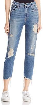 MOTHER Distressed Sinner Jeans in Ice Cream, You Scream $285 thestylecure.com