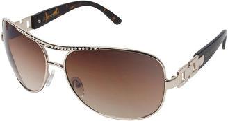 ROCAWEAR Rocawear Rhinestone-Accent Aviator Sunglasses $28 thestylecure.com