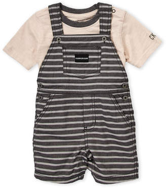 Calvin Klein Jeans Infant Boys) Two-Piece Short Sleeve Tee & Overalls Set