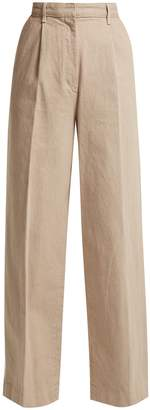 The Row Elin cotton-denim trousers