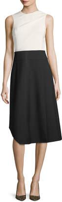 Narciso Rodriguez Wool Sleeveless Colorblock Dress