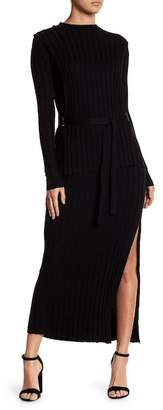 Fate Long Sleeve Solid Knit Dress