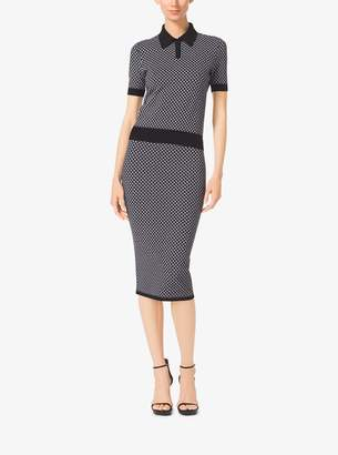 Michael Kors Diamond Jacquard Viscose Pencil Skirt