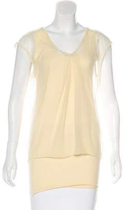Hache Overlay Sleeveless Top w/ Tags