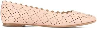 Chloé scalloped edge ballerina shoes