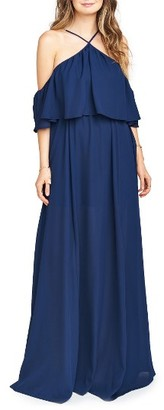 Women's Show Me Your Mumu Rebecca Off The Shoulder Chiffon Gown $184 thestylecure.com