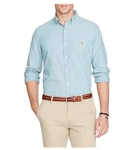 Polo Ralph Lauren Mens Custom Fit Polo Pony Chambray Shirt