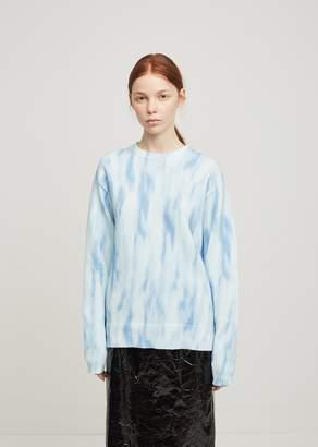 Sies Marjan Courtney Tie Dye Crewneck Pullover Milky Blue
