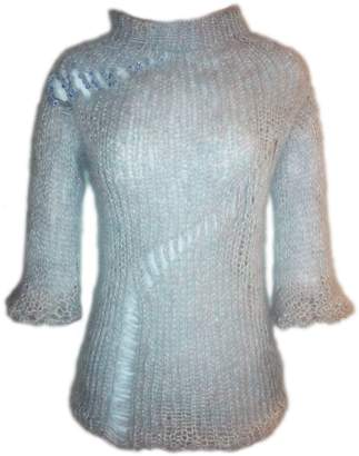 Swarovski Claire Andrew - Grey Knit Jumper with Embellishment