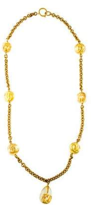 Chanel Resin CC Pendant Necklace