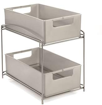 Seville Classics 2-Tier Pull-Out Sliding Drawer Kitchen Counter Organizer