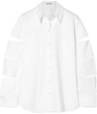 Christopher Kane Oversized Cutout Cotton-poplin Shirt - White
