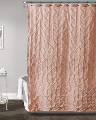 Lush Decor Peach Lake Como Shower Curtain