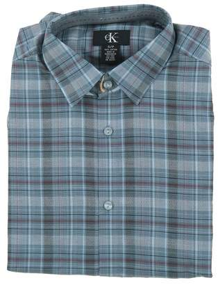 Calvin Klein Mens Casual Dress Button Front Shirt