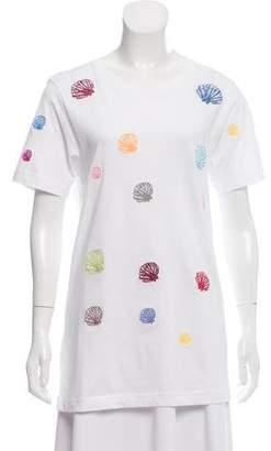 Rosie Assoulin Printed Short Sleeve Top w/ Tags