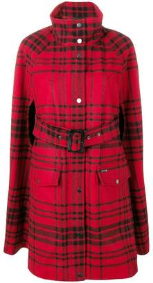 Woolrich plaid cape