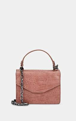 Deux Lux WOMEN'S MINI CROCODILE-EMBOSSED SATCHEL - PINK