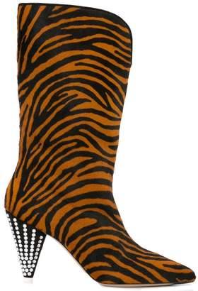 ATTICO zebra print boots