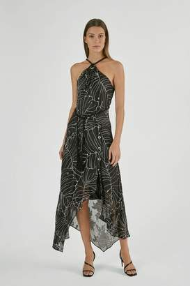 Yigal Azrouel Tropical Leaf Fil Coupe Dress