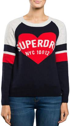 Superdry Varsity Graphic Logo Knit