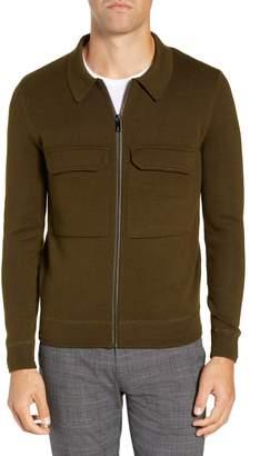 Ted Baker Akwa Slim Fit Zip Wool Blend Sweater