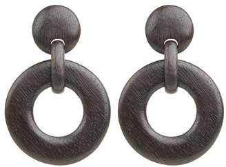 Josie Natori Wood Link Earrings