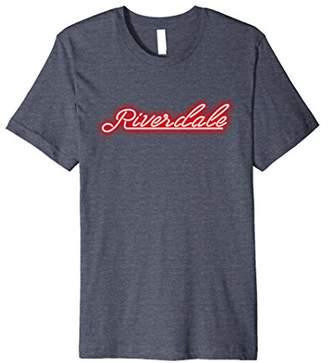 Riverdale New York Glowing Neon Sign Vintage Retro T-Shirt