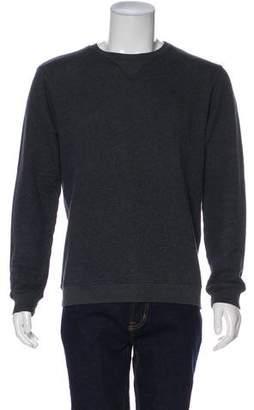Maison Margiela Leather-Trimmed Wool Sweater
