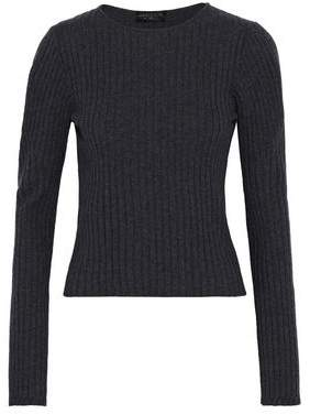 Giambattista Valli Ribbed Wool Silk And Cashmere-Blend Sweater