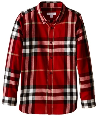 Burberry Kids - Exploded Scale Check Shirt Boy's Long Sleeve Button Up $150 thestylecure.com