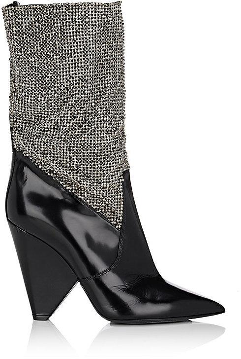 Saint LaurentSaint Laurent Women's Niki Leather Ankle Boots