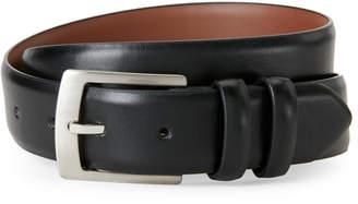 Bosca Smooth Leather Double Keeper Loop Belt