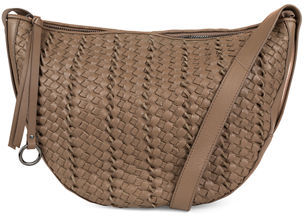 Kooba Sabine Woven Leather Saddle Bag $275 thestylecure.com