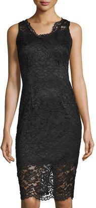Marina Lace Sleeveless Sheath Dress, Black $86 thestylecure.com