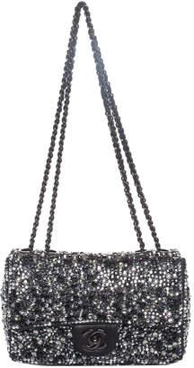 Chanel Black Leather Crystal Embellished Strass Mini Flap Bag, Never Carried