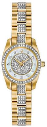 Bulova Crystal Collection Swarovski Crystal Goldtone Stainless Steel Bracelet Watch