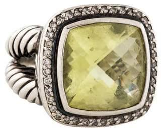 David Yurman Albion Diamond & Peridot Cocktail Ring