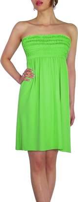 SODACODA Women's Beach Strapless Summer Dress knee lenght - One size