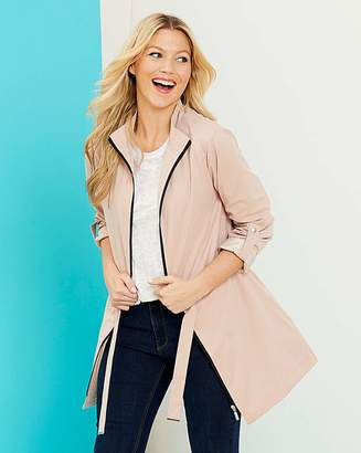 Fashion World Soft Pink Soft Touch Microfibre Jacket