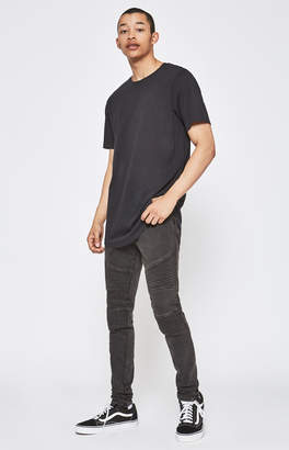 Moto Pacsun Stacked Skinny Black Jeans