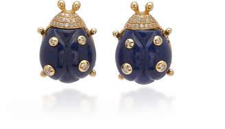 Casa Castro 18K Gold Quartz And Diamond Large Earrings