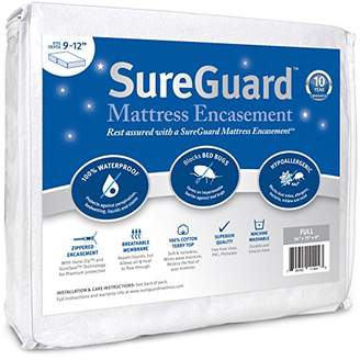 Full (9-12 in. Deep) SureGuard Mattress Encasement - 100% Waterproof