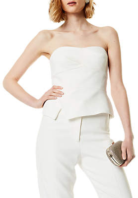 Karen Millen Sharp Summer Top, Ivory