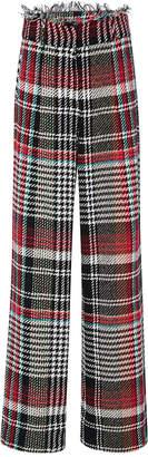 Oscar de la Renta Tweed Wide Leg Trousers