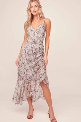 Aster Mariah Python Midi Dress